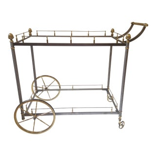 Traditional Steel & Brass Bar Cart