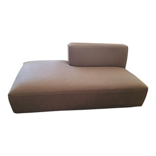 Interior Define Crawford Bumper Taupe Fabric Chaise For Sale