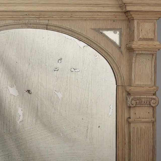 Italian 19th Century Italian White Painted Arched Mirrors - a Pair For Sale - Image 3 of 9