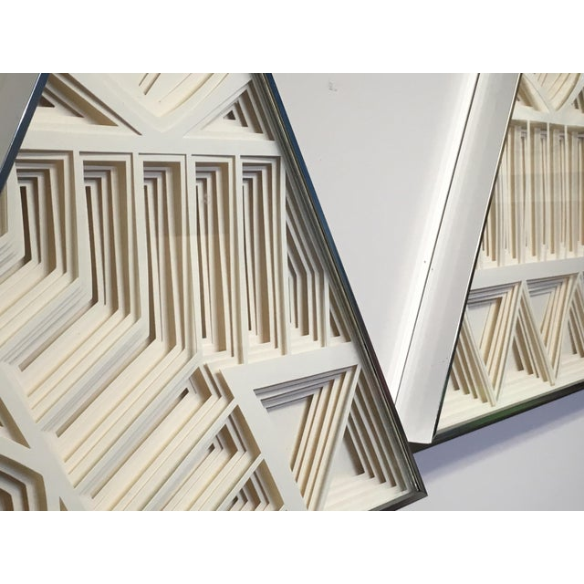 White 1970s Vintage Greg Copeland Paper Wall Art Sculptures - a Pair For Sale - Image 8 of 11