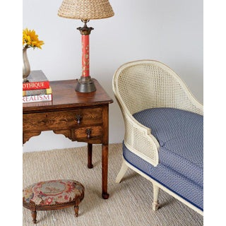 French Louis XVI Style Caned Chaise Longue or Lounge Daybed Preview