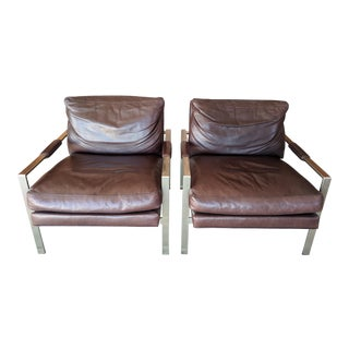 Vintage Mid-Century Milo Baughman for Thayer Coggin Chairs- A Pair For Sale