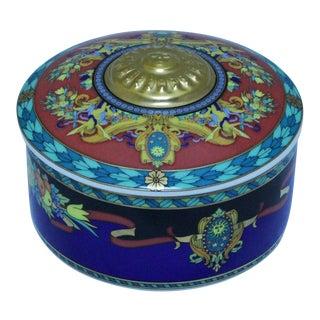 1993 Rosenthal's Versace Line Porcelain Box, Le Roi Soleil For Sale