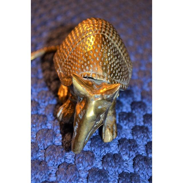 Vintage Solid Brass Armadillo Figurine - Image 9 of 11