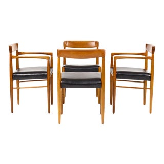 1960s Danish Modern h.w. Klein for Bramin Teak Dining Chairs - Set of 4 For Sale