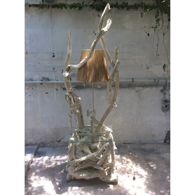 Mid Century Modern Driftwood Sculptural Table Lamp - Image 2 of 8
