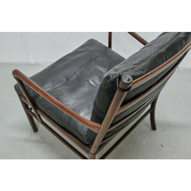 Rosewood Ole Wanscher Colonial Chair, P. Jeppesens Møbelfabrik, Denmark, 1960s For Sale - Image 11 of 13