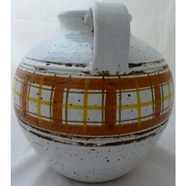 Italian Mid-Century Modern Italian Art Pottery Vase For Sale - Image 3 of 11