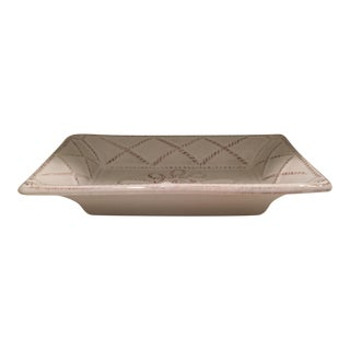 Juliska Whitewash Ceramic Soap Dish For Sale