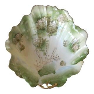 Vintage Floral Porcelain Bowl For Sale