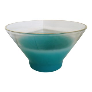 Blendo Mid-Century Turquoise Chip Bowl For Sale