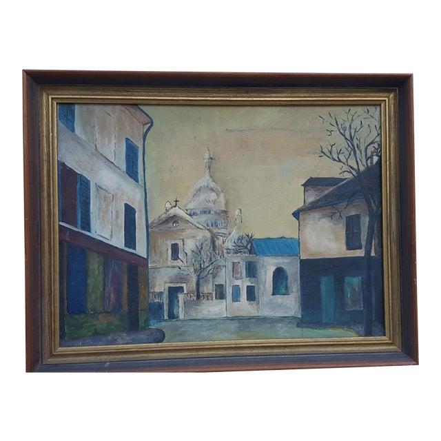 1964 Rodger Moprisk Rural Street Scene Oil Painting For Sale