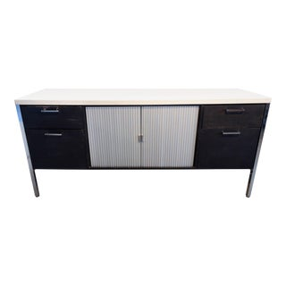 Midcentury Black and White Low Credenza by Knoll, circa 1960 For Sale