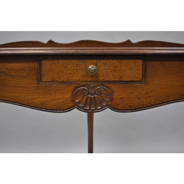 Mid 20th Century Country French Louis Triangle Side Table For Sale - Image 5 of 10