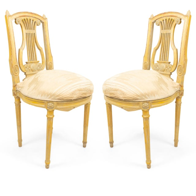 French Louis XVI Lyre Side Chairs For Sale - Image 11 of 11