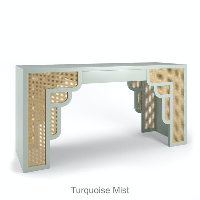 Not Yet Made - Made To Order Habanera Console Table - Turquoise Mist For Sale - Image 5 of 5
