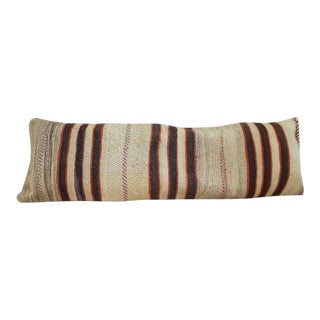 Vintage Kilim Lumbar Pillow Cover For Sale