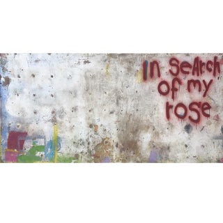 Large Acrylic on Panel Titled: My Rose For Sale