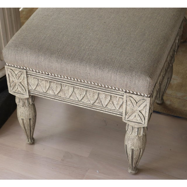 Gustavian (Swedish) Swedish Gustavian Tan Stool For Sale - Image 3 of 5