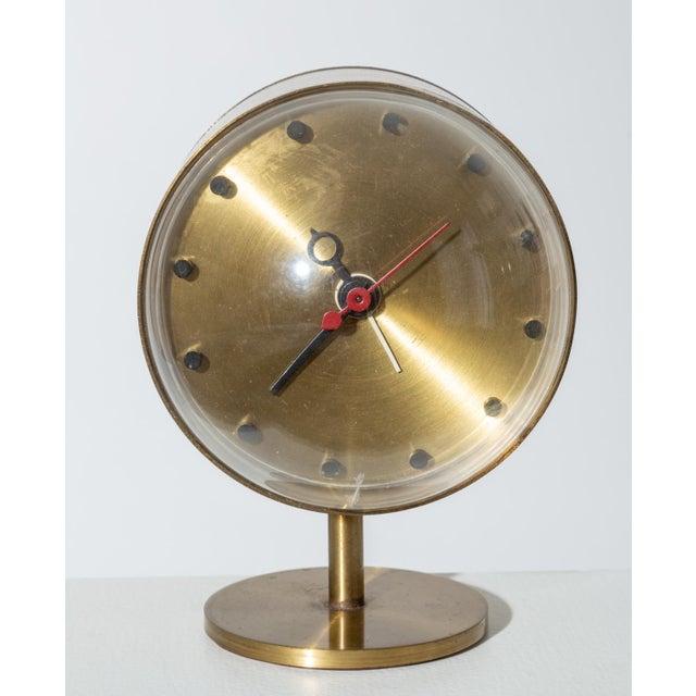 Gold George Nelson Model 4766 Brass Clock for Howard Miller For Sale - Image 8 of 8