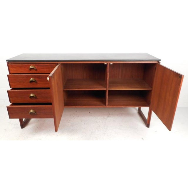 Jens Risom Mid-Century Marble Top Sideboard - Image 4 of 9