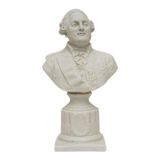 19th Century Louis XVI Porcelain Bisque Bust For Sale