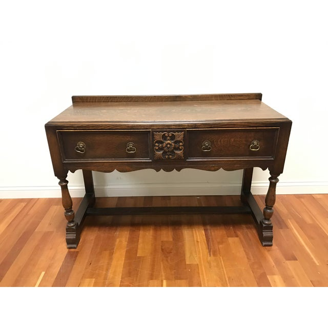 Late 19th Century English Jacobean Tudor Silverware Chest Server Quartern Sawn Oak For Sale - Image 13 of 13