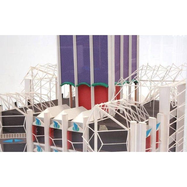 Acrylic Irving Harper Architectural Sculpture from His Paper Sculpture Series For Sale - Image 7 of 9