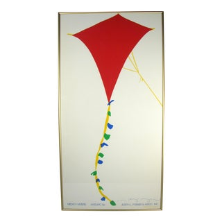 1980s Mickey Myers Signed Crayola Kite Art Expo Silk Screened Print For Sale