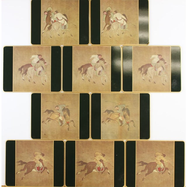Set of (10) Ming Polo English Scully & Scully Park Ave Plate Mats!~ - Image 2 of 7