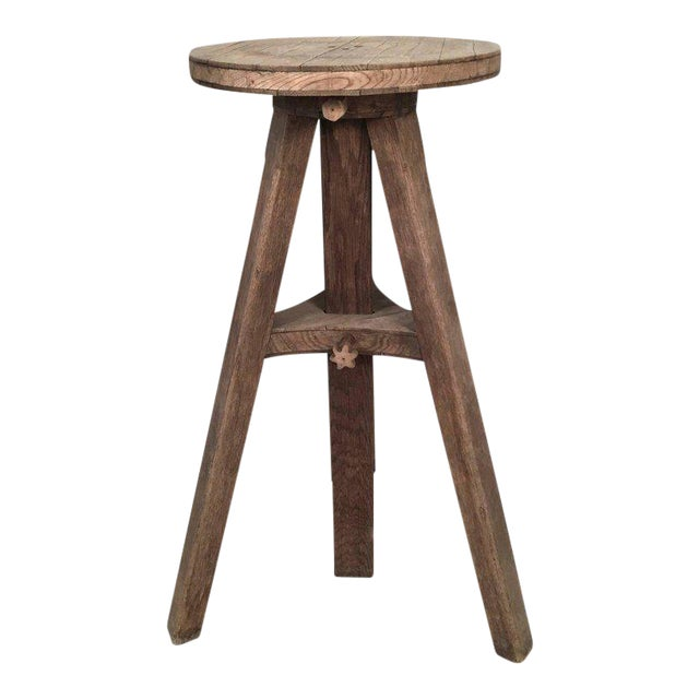 Oak Adjustable Height Sculptor's Stand For Sale