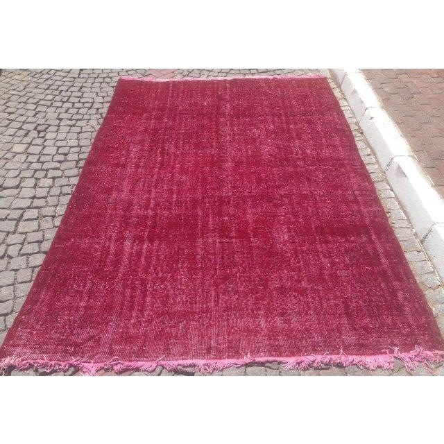 Apadana Purple Overdyed Rug - 7′1″ × 10′4″ For Sale - Image 5 of 6