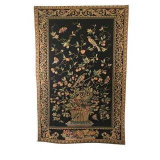 Vintage Old World European Design Woven Tapestry For Sale