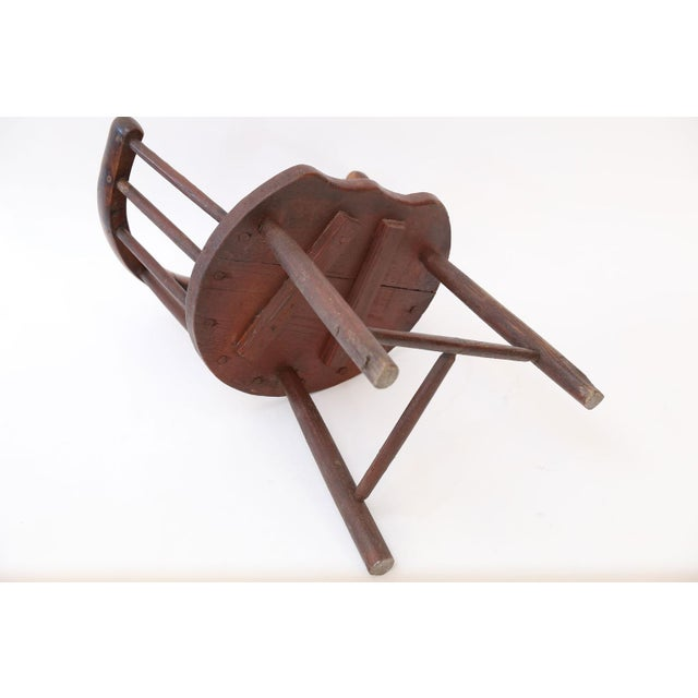 Scottish Horseshoe Back Chair For Sale In Houston - Image 6 of 12