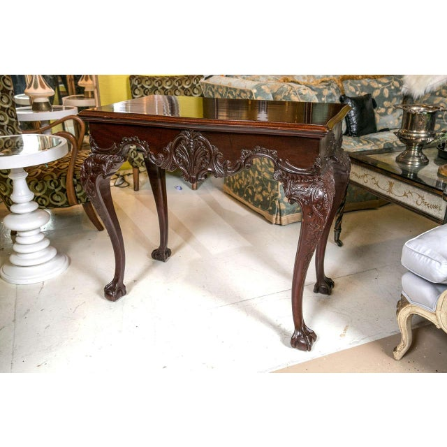 English Traditional English Georgian Mahogany Console Tables - A Pair For Sale - Image 3 of 10