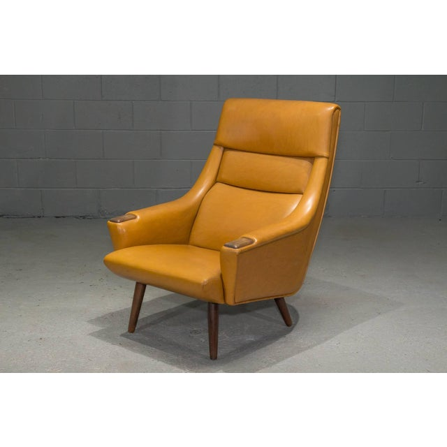 High Back Danish Modern Lounge Chair For Sale In Boston - Image 6 of 10