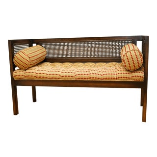 Mid-Century Modern Lewitte's Cane Settee For Sale