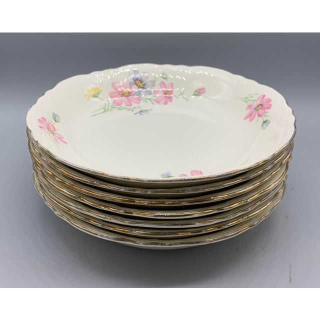 1940s Vintage Homer Laughlin's Virginia Rose Dinner Plates- 21 Pieces For Sale - Image 9 of 10