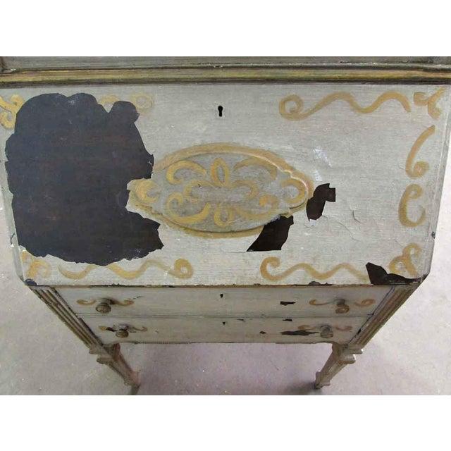Antique Secretary Desk & Cabinet Duo For Sale - Image 10 of 10