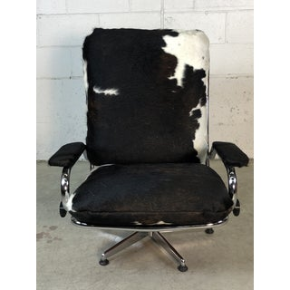 1960s Chrome & Cowhide Reclining Lounge Chair Preview