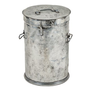 Metal Factory Candy Bin / Stool For Sale