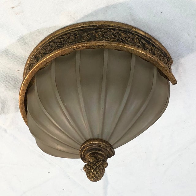 Baroque Murray Feiss Baroque Brulee Gold Wall Sconce For Sale - Image 3 of 12