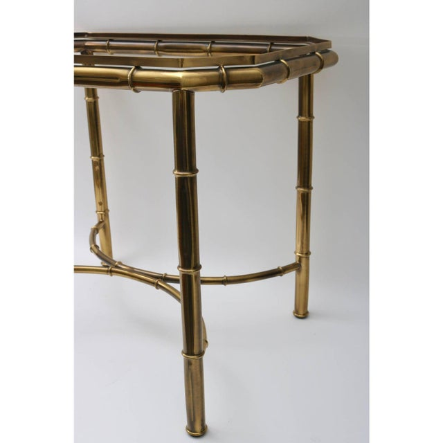 Brass Vintage Mastercraft Tray Table Faux Bamboo For Sale - Image 8 of 11