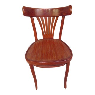 Beech Wood Bistro Chair For Sale
