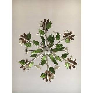 1960s Vintage Tole Flower Chandelier Preview
