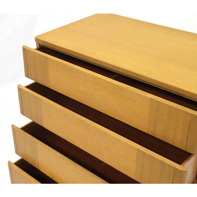 Five Drawers Blond to Gold Mahogany Saarinen High Chest Dresser For Sale - Image 9 of 11