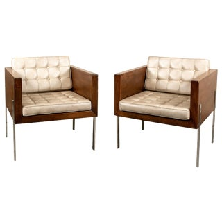 Pair Harvey Probber Mid Century Modern Original Cube Chairs For Sale
