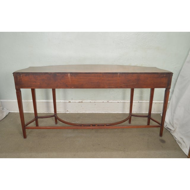 Hollywood Regency Regency Style 1930s Inlaid Satin Wood Console Sideboard For Sale - Image 3 of 13