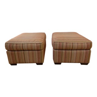 Room & Board Foster Ottomans, a Pair For Sale