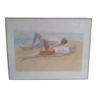 1972 Vintage Daria Dorosh Catskill Summer Signed Watercolor Painting For Sale